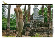 Walking And Sitting Buddha Images At Wat Sa Si In Sukhothai Historical Park-thailand Carry-all Pouch