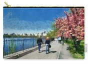 Walking Around Reservoir In Central Park Carry-all Pouch