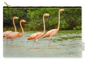 Walking Flamingos Carry-all Pouch