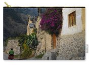 Woman Walking In Ollantaytambo In Peru Carry-all Pouch