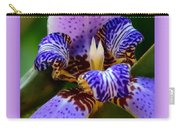 Walking Iris With Purple Border Carry-all Pouch