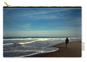 Walking On Seaside Beach Carry-all Pouch