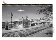 Walking On The Boardwalk In Black And White Walt Disney World Carry-all Pouch