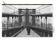 Walking On The Brooklyn Bridge Carry-all Pouch
