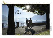 Walking On The Lakefront Carry-all Pouch