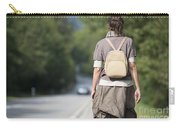 Walking On The Road Carry-all Pouch