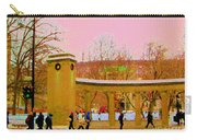 Walking Sherbrooke By Roddick Gates Mcgill Campus View Of Mont Royal Montreal Scenes Carole Spandau  Carry-all Pouch
