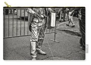 Walking The Gator On Bourbon St. Nola Black And White Carry-all Pouch