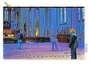 Walking The Indoor Labyrinth In Grace Cathedral In San Francisco-california Carry-all Pouch