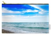 Walking The Shore - Extended Carry-all Pouch by Steven Santamour