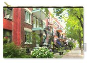 Walking Verdun In Summer Winding Staircases And Pathways Urban Montreal City Scenes Carole Spandau Carry-all Pouch