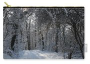 Walkway In Black And White Carry-all Pouch