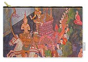 Wall Painting At Wat Suthat In Bangkok-thailand Carry-all Pouch