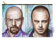 Walter And Jesse - Breaking Bad Carry-all Pouch by Olga Shvartsur