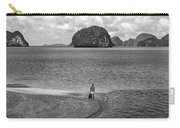 Wandering In Paradise Monochrome Carry-all Pouch