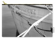 Wanderlust Black And White Carry-all Pouch