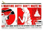 War Poster - Ww2 - Dont Waste Water 1 Carry-all Pouch