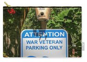 Veteran Parking Sign Carry-all Pouch