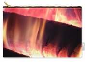 Warm Glowing Fire Log Carry-all Pouch