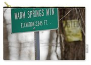 Warm Springs Mountain  Carry-all Pouch
