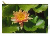 Warm Yellows Oranges And Corals - A Waterlily Impression Carry-all Pouch