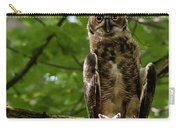 Warm Young Great Horned Owl Carry-all Pouch