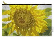 Warmth Upon My Back - Sunflower Carry-all Pouch