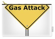 Warning Sign Gas Attack Carry-all Pouch