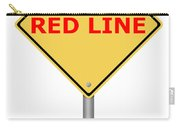 Warning Sign Red Line Carry-all Pouch
