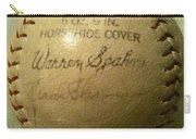 Warren Spahn Baseball Autograph Carry-all Pouch