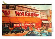 Warshaw's Bargain Fruit Store Montreal Street Scenes Paintings City Scene Art Carole Spandau Carry-all Pouch
