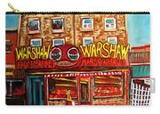 Warshaw's Bargain Fruit Store Rue St Laurent Montreal Paintings City Scene Art Carole Spandau Carry-all Pouch
