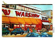 Warshaws Paintings Famous Fruit Store Main Street Montreal Art Prints Originals Commissions Cspandau Carry-all Pouch
