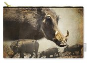 Warthog Profile Carry-all Pouch by Ronel Broderick