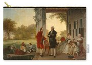 Washington And Lafayette At Mount Vernon Carry-all Pouch