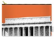Washington Dc Skyline Lincoln Memorial - Coral Carry-all Pouch