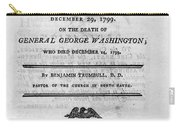 Washington Funeral Carry-all Pouch