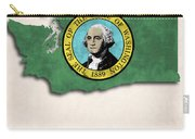 Washington Map Art With Flag Design Carry-all Pouch