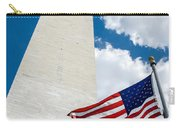 Washington Monument And Flag Carry-all Pouch