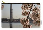 Washington Monument Framed By Blossoms Carry-all Pouch