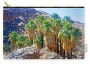 Washingtonian Fan Palm Grove Along Lower Palm Canyon Trail Near Palm Springs-california  Carry-all Pouch