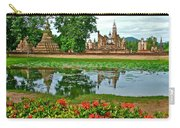 Wat Mahathat Reflection In 13th Century Sukhothai Historical Park-thailand Carry-all Pouch