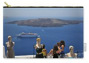 Watching The View In Santorini Island Carry-all Pouch