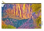 Watchman's Peak In Zion National Park-utah Carry-all Pouch
