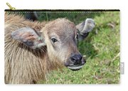 Water Buffalo Calf Carry-all Pouch