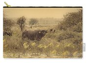 Water Buffaloes At Corroboree Billabong V2 Carry-all Pouch