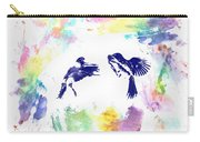 Water Color Bird Fight Carry-all Pouch