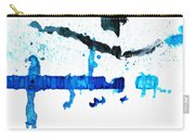 Water Dance - Blue And White Art By Sharon Cummings Carry-all Pouch