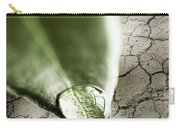 Water Drop On Green Leaf Carry-all Pouch by Elena Elisseeva