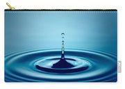Water Drop Splash Carry-all Pouch by Johan Swanepoel